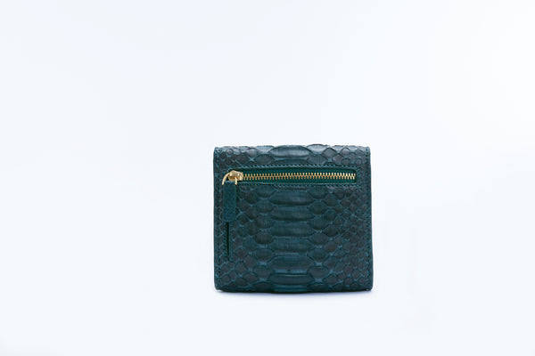 SMALL FLAP WALLET - GREEN