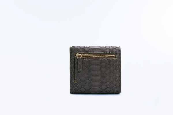 SMALL FLAP WALLET - OLIVE