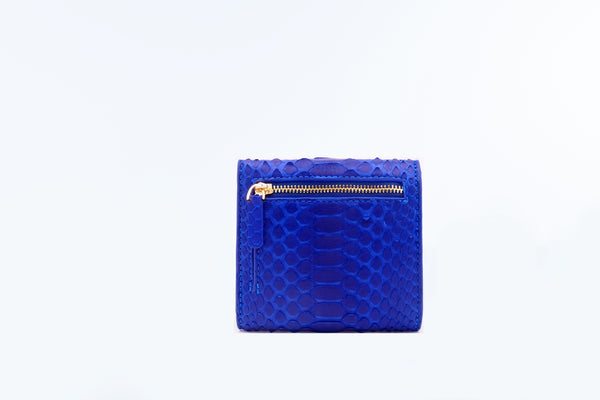 SMALL FLAP WALLET - COBALT BLUE