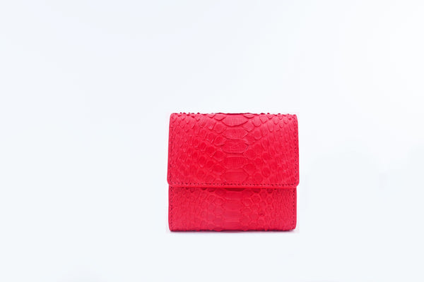 SMALL FLAP WALLET - RED