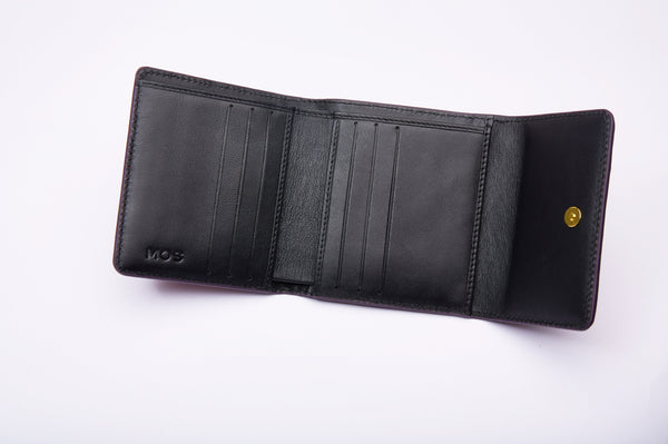 SMALL FLAP WALLET - WINE