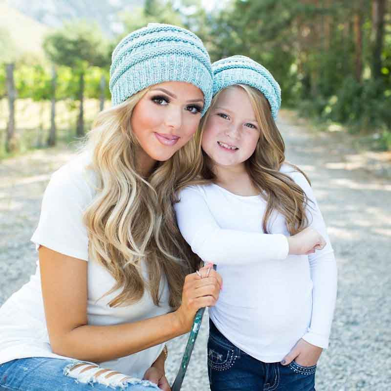 8be1a6d98112f Mom and Baby Fashion Winter Hat - Clarity Deal
