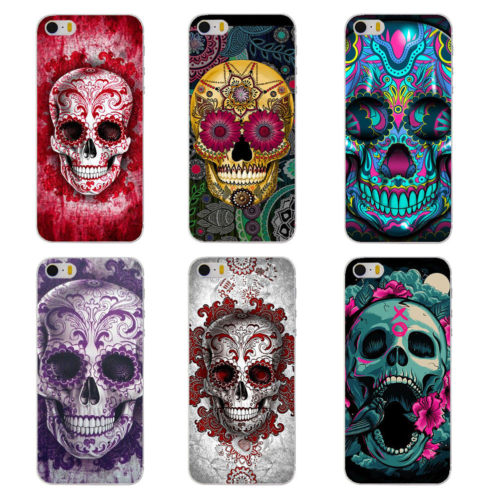 huge discount f24fe e6e3d Stained Skull Phone Case for iPhone