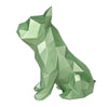 French Bulldog Geometric sculpture - Frank Junior in Metallic Green 3D printed