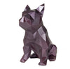 French Bulldog Geometric sculpture - Frank Junior in Metallic Plum 3D printed
