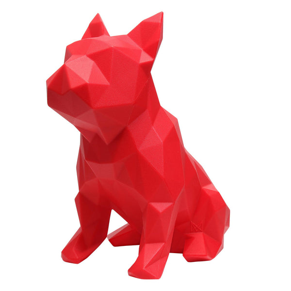 FRANK - French Bulldog Geometric Sculpture - Red