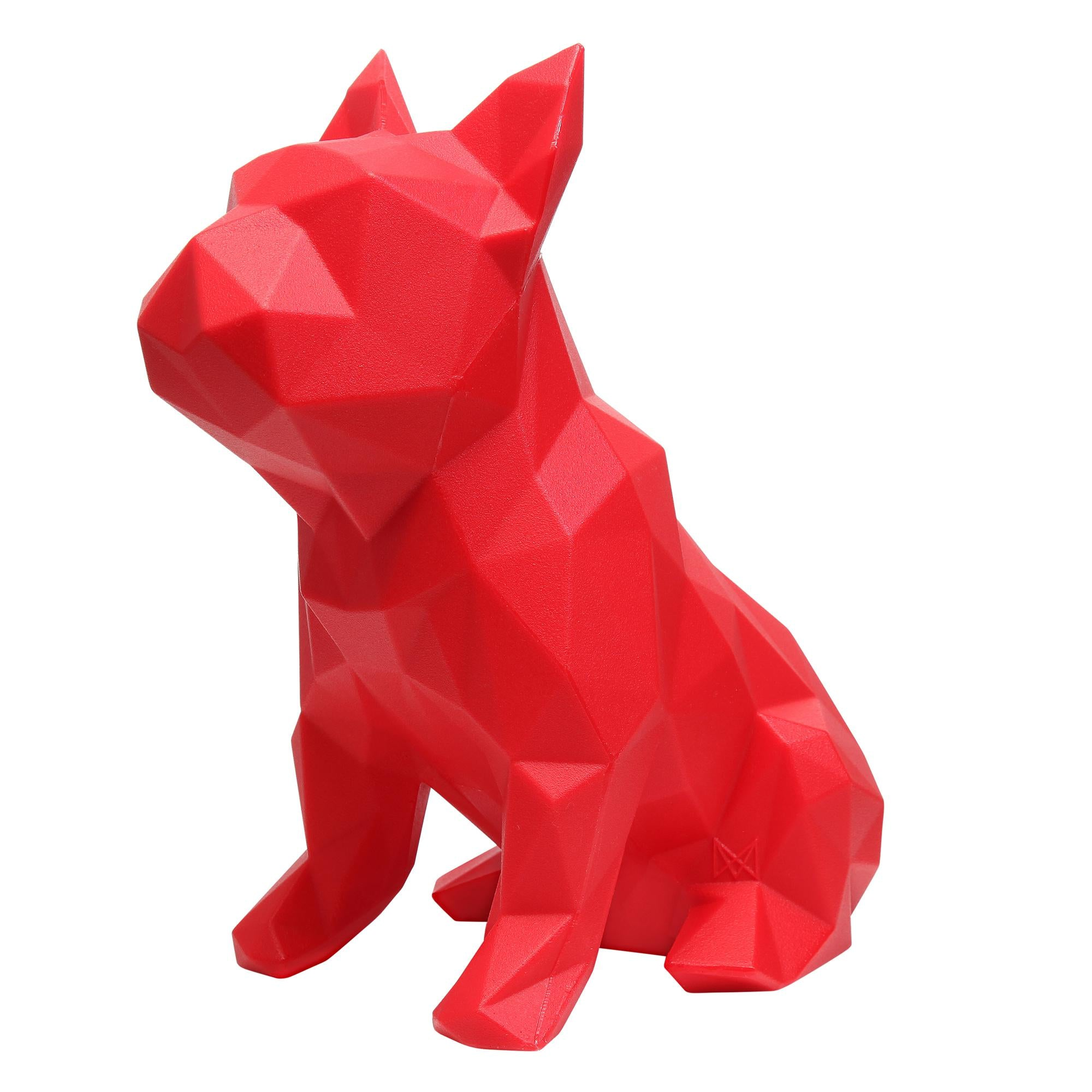 French Bulldog Geometric Sculpture - FRANK in Red