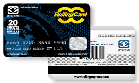 Credit Card Rolling Papers 20 pack - The High Road