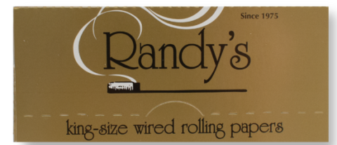 Randys Gold Kingsize Rolling Papers 24pk - The High Road