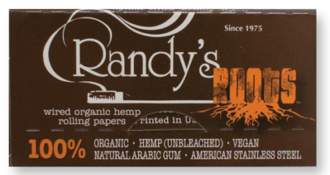 Randys Roots Organic Rolling Papers 24pk - The High Road