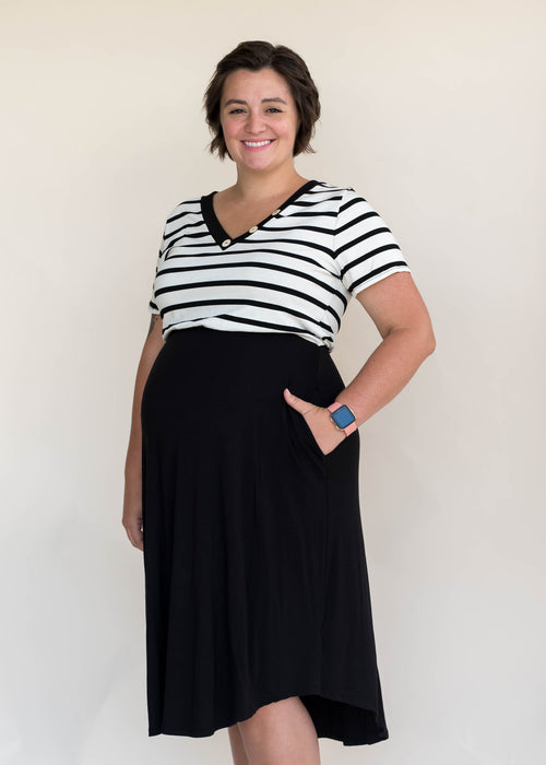 Striped Combo Dress