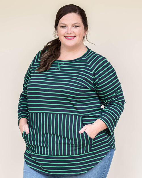 French Terry Stripe Pullover