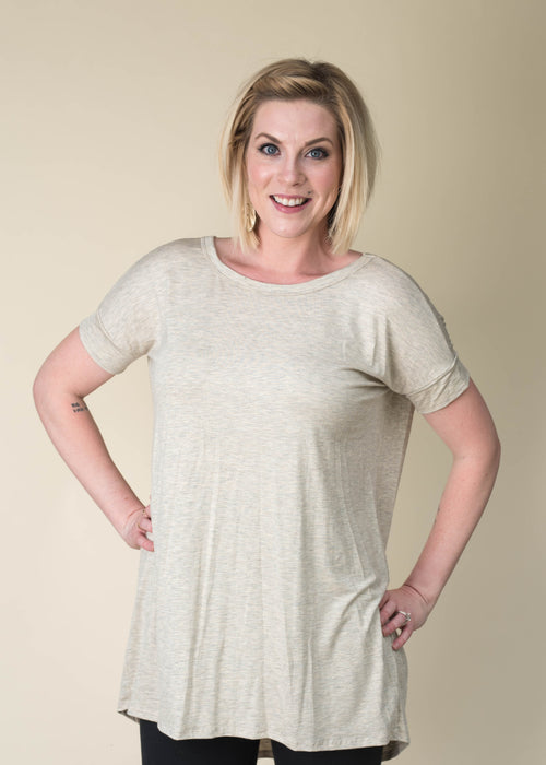 Oatmeal Criss Cross Tunic