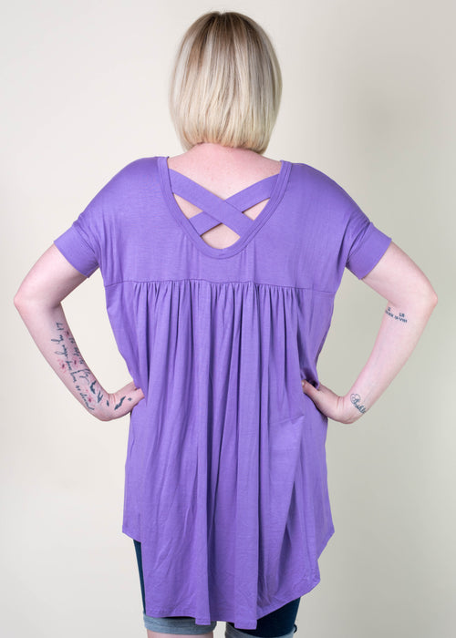 Lavender Criss Cross Tunic