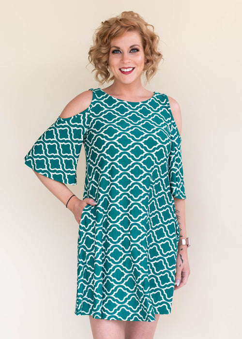 Emerald Quatrefoil Dress