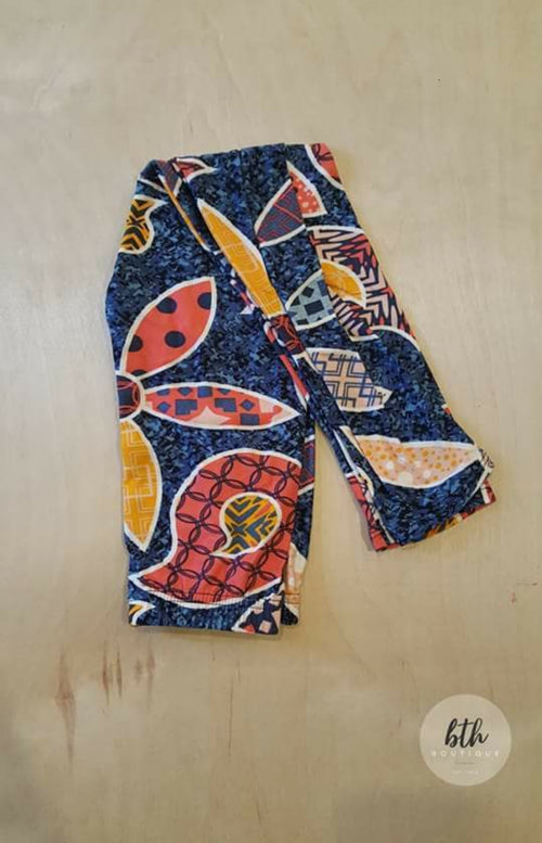 Kids Orange Floral Leggings