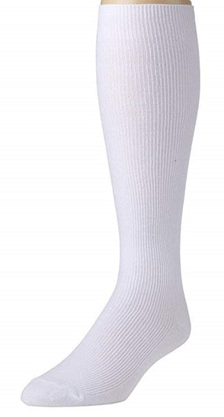 Mens Knee High Long Socks Soft and Lightweight Ribbed Cotton Blend socks