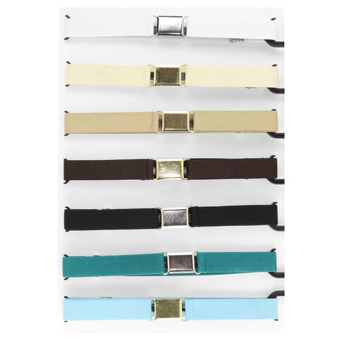 Boys Belts Boys Adjustable Stretch solid Belts