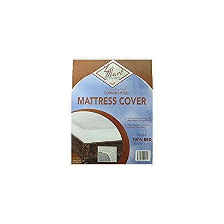 La Mart Heavy Duty Vinyl Corcorner Fitted Mattress Coverner Fitted Mattress Cover