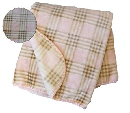 Blankets Pink Plaid Print Spanish Fuzzy Blanket-sizes: S/m