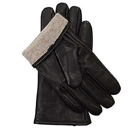 Mens Luxurious Genuine Leather with Cashmere Lined Gloves