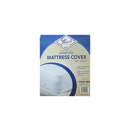 Heavy Duty Vinyl Corner Fitted Mattress Cover with Zipper