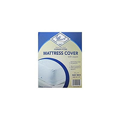 La Mart Heavy Duty Vinyl Corner Fitted Mattress Cover with Zipper