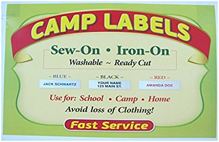 Super Name Tape Iron on Labels