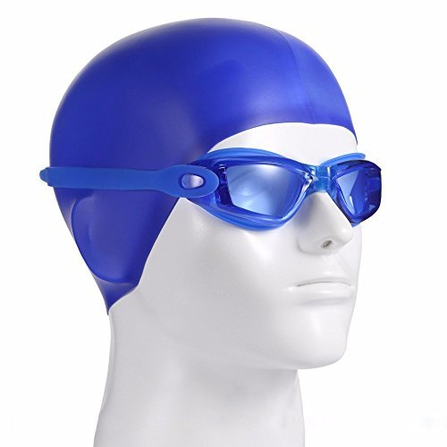 "Long Lasting Safety waterproof Swim Goggles, BENTEVI Clear Swimming Goggles. UV protection, Anti-Fog "" Easy to put on and Take Off"""