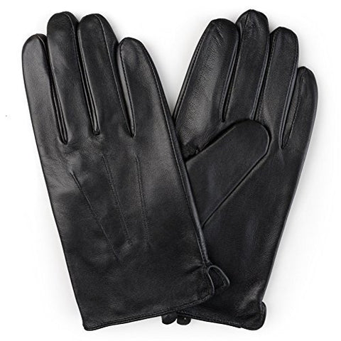 Men's Genuine leather Rabbit fur lined Gloves