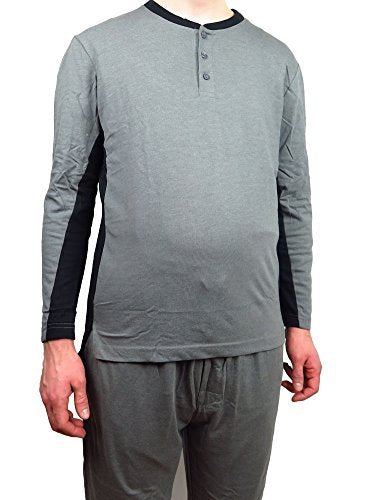 Great Fit 100% Jersey Cotton Knit Crew neck Men's Pajamas