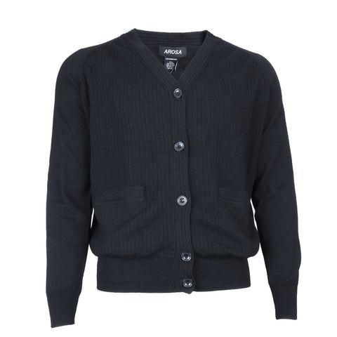 AROSA Men's Black Button Sweater