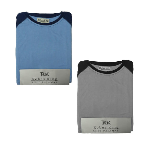 Mens Knit Crew Neck Pajamas