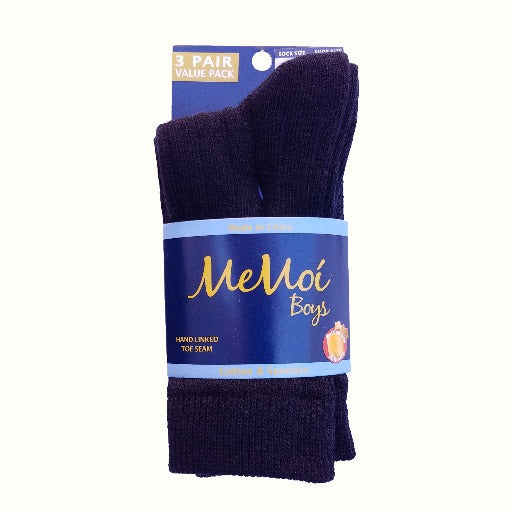Memoi Boys Ribbed Socks 3 Pack