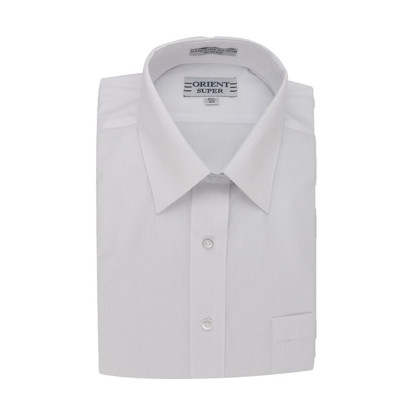 Orient Super Boy's White Long Sleeve Basic Dress Shirt