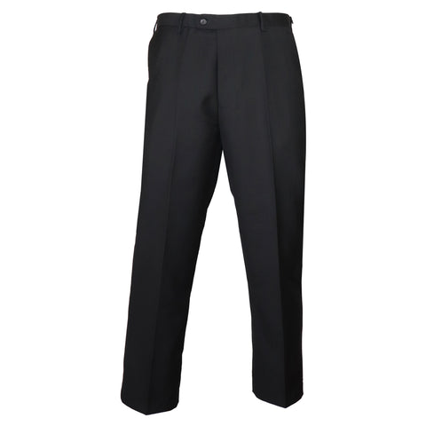 Men's Solid Black Dress Pants