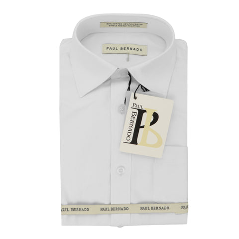 PAUL BERNADO White/White Dress Shirt