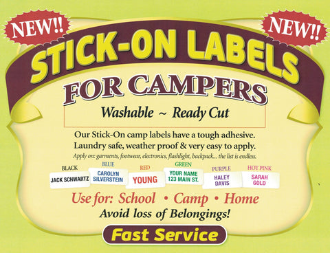 Stick-on Labels Washable Ready Cut