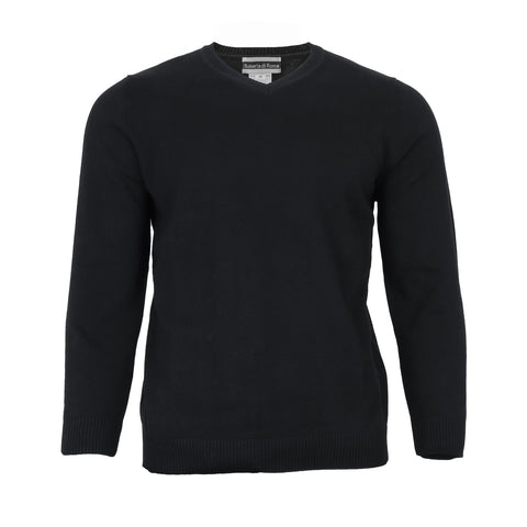 Men's Black V-Neck Sweater