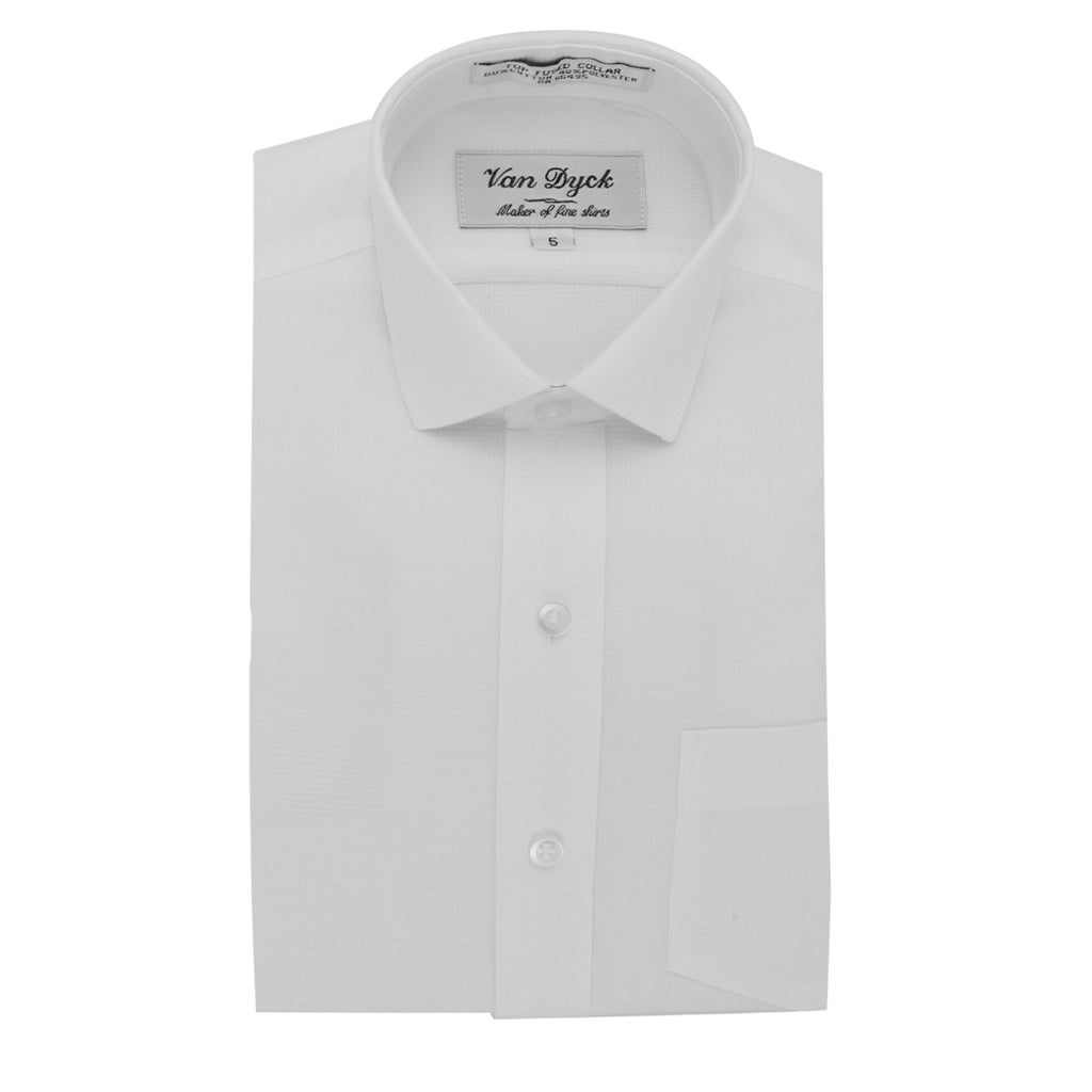 Van Dyck White/White Long Sleeve Dress Shirt