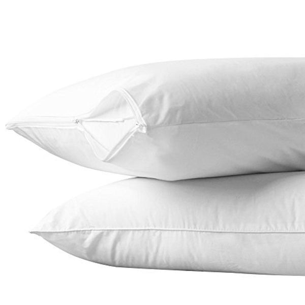 Allergy Protection, dust mites Standard Zippered Pillow Case and Protector, Add Life to your pillow set of 2