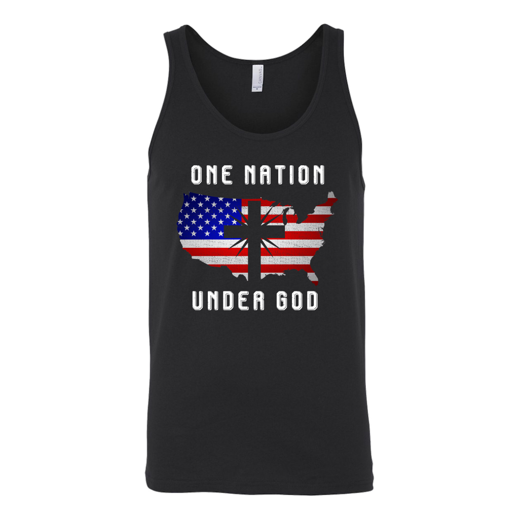 One Nation Under God Cross USA Flag