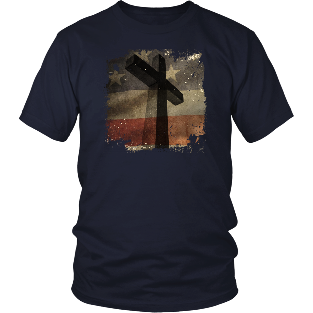 American Flag Cross Silhouette