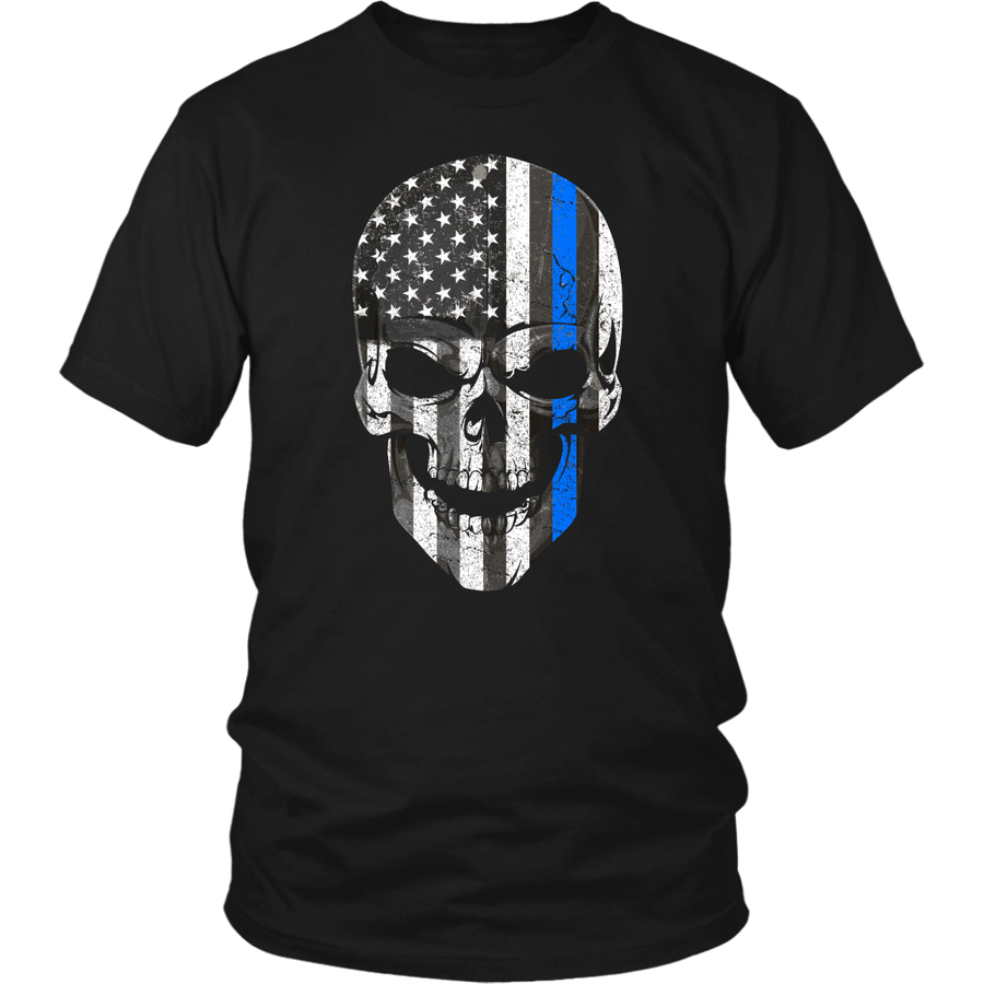 Limited Edition-Skull Blue Line (Version 2)