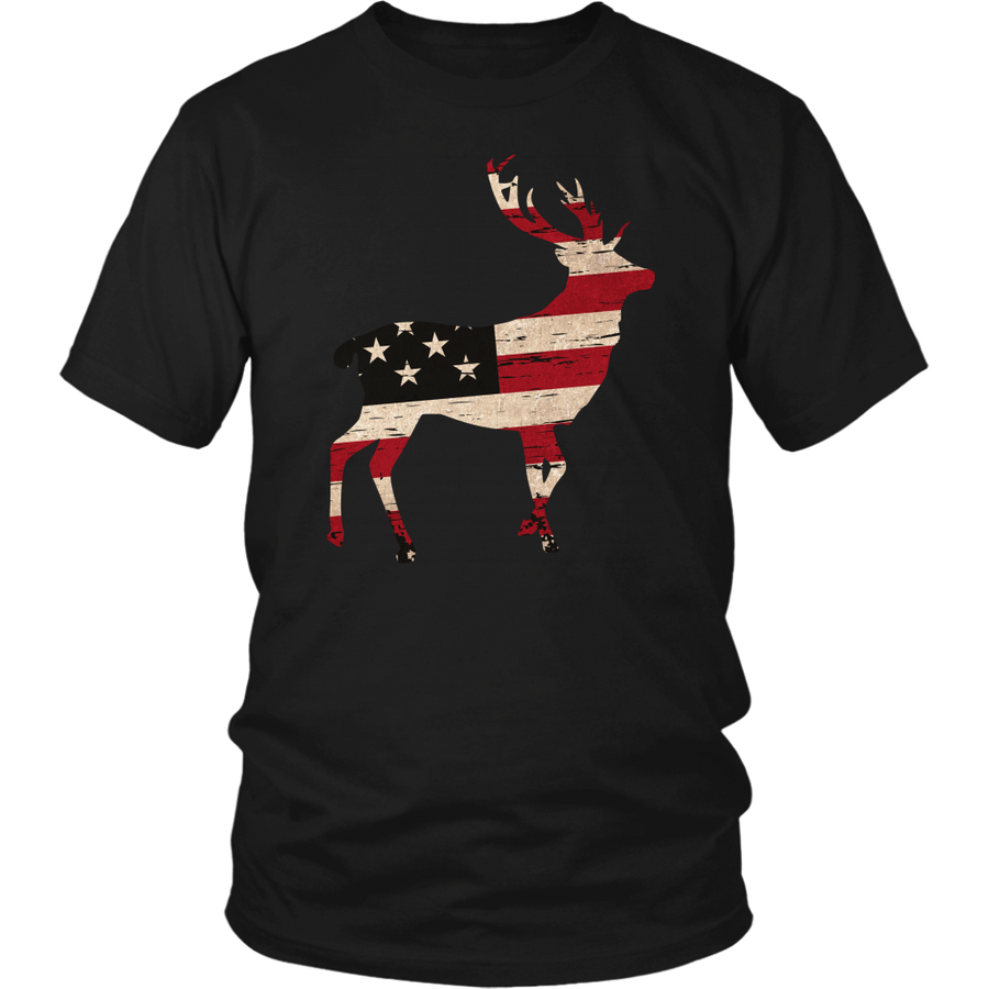 USA Deer Flag Shirt