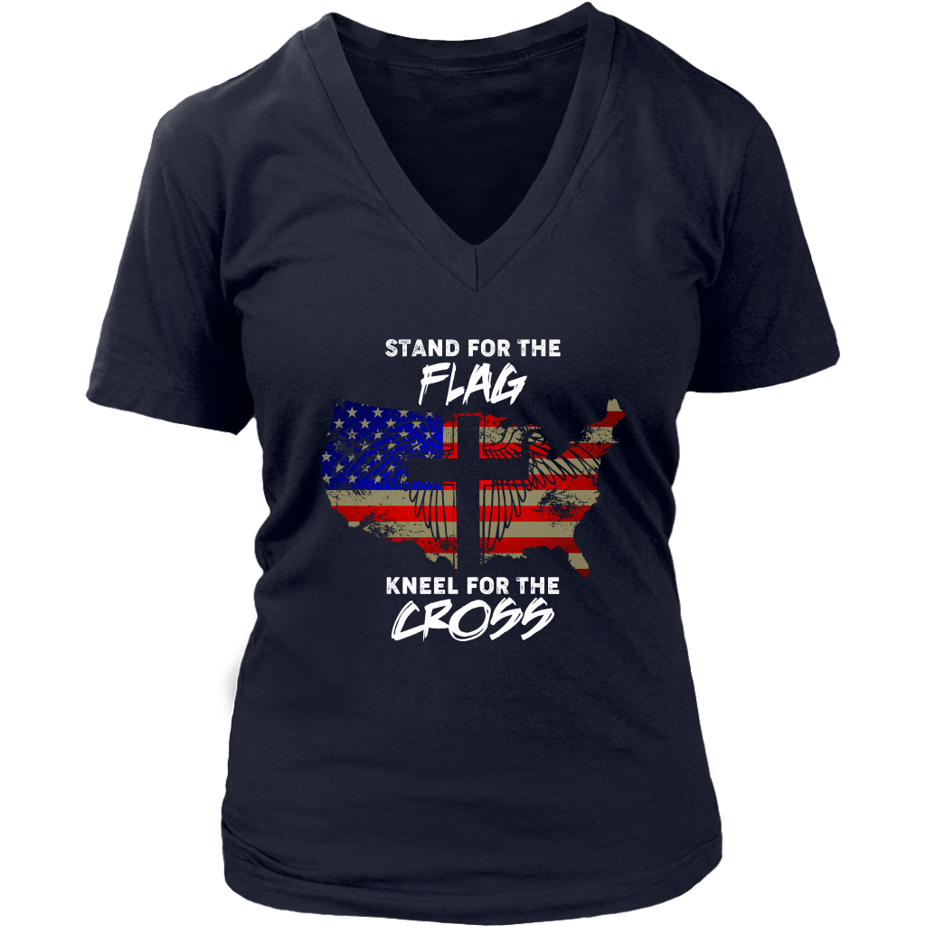Stand For The Flag Kneel For The Cross USA