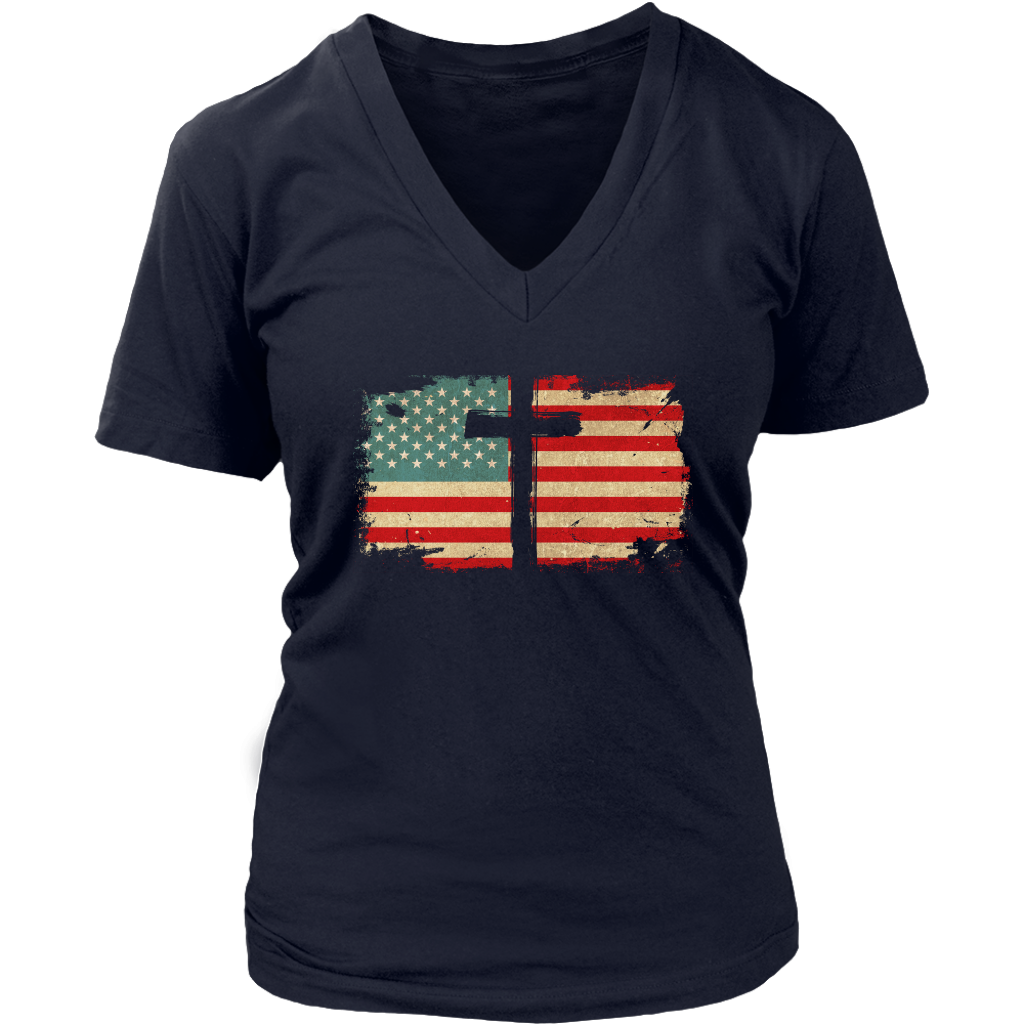 USA Cross Flag Shirt