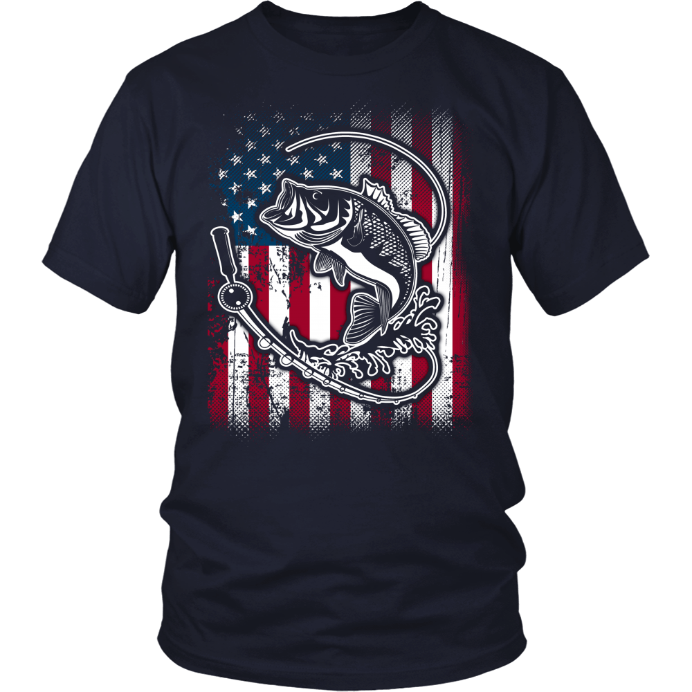 Fishing And American Flag