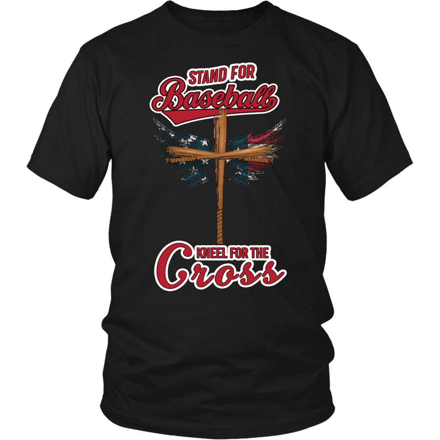 Stand For Baseball Kneel For The Cross Small Wings