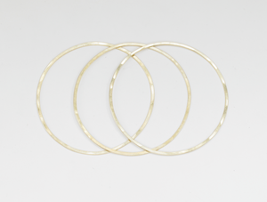 Plain Bangle s/3, 19k Gold